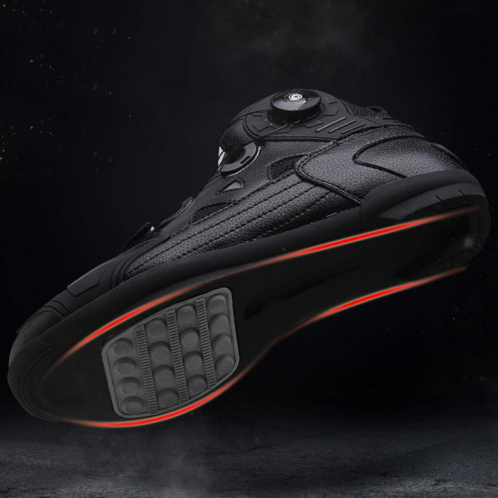 WERT Bottes de Moto imperm/éables Touring Protection blind/ée Scooter Bottes de Route Chaussures zipp/ées Sport Chaussures de Moto,Black-38