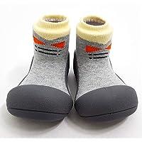 Attipas Tie Baby Walker Shoes, Grey, Small
