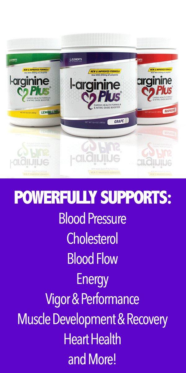 #1 L-Arginine Plus - Multi Flavor 3-Pack - for Better Blood Pressure, Cholesterol, Energy, Blood Flow, Muscle Development & More - #1 L-arginine Supplement - Get 1 Bottle of Each Flavor by Elements of Health Care (Image #3)