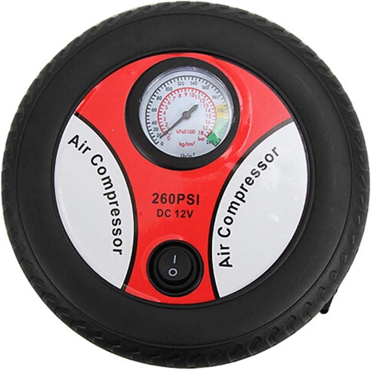 La inflaci/ón coche bomba del compresor de aire de neum/áticos Mini 12V el dise/ño universal para el coche