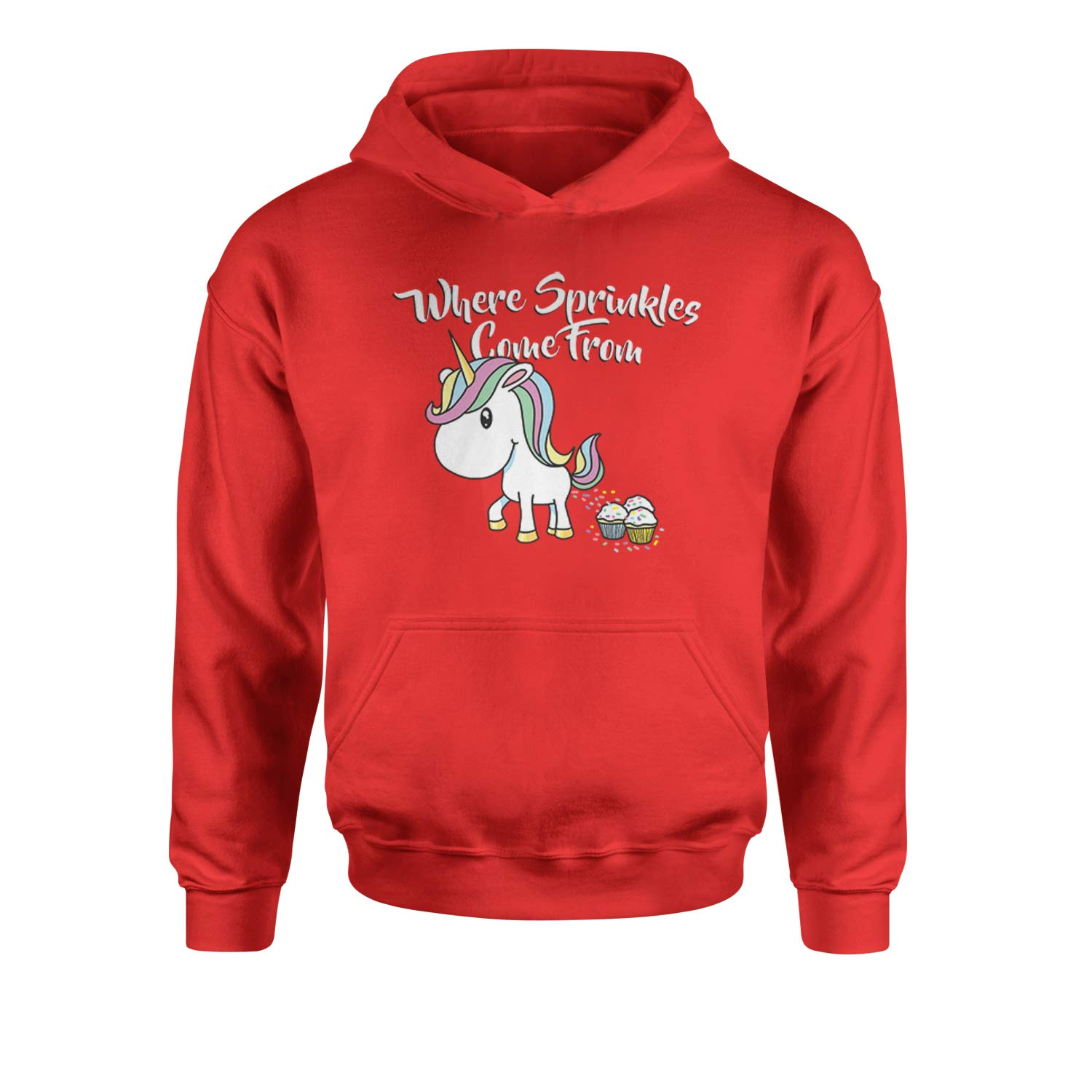 Expression Tees Unicorns are Where Sprinkles Come from Youth-Sized Hoodie