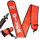 Scuba Choice Scuba Diving 6' Surface Marker Signal Tube Oral and Standard BC Hose Inflator