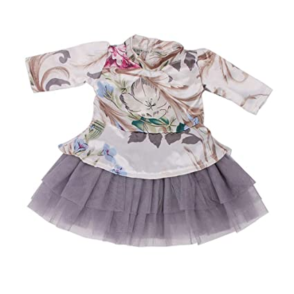 0ca420d12cf Image Unavailable. Image not available for. Color  FreshZone Doll Clothes  Long Sleeve Skirt for 18 Inch American Girl ...