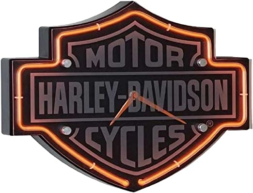 Amazon.com: Harley-Davidson Etched Bar & Shield Shaped reloj ...