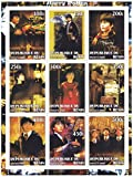 Harry Potter and the Philosopher's Stone miniature stamp sheet from 2002 with 9 stamps / Benin