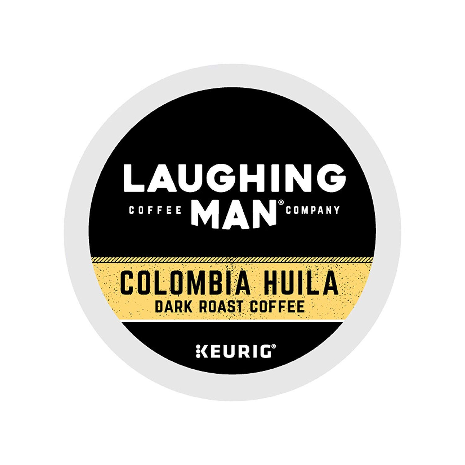 Laughing Man Colombia Huila Coffee Single-Serve K-Cups for Keurig Brewers, 16 Count