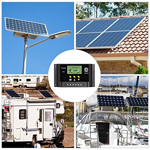 ALLPOWERS 30A Solar Charger Controller 12V/24V Solar Panel Battery Intelligent Regulator with Dual USB Ports, LCD Display by ALLPOWERS (Image #7)
