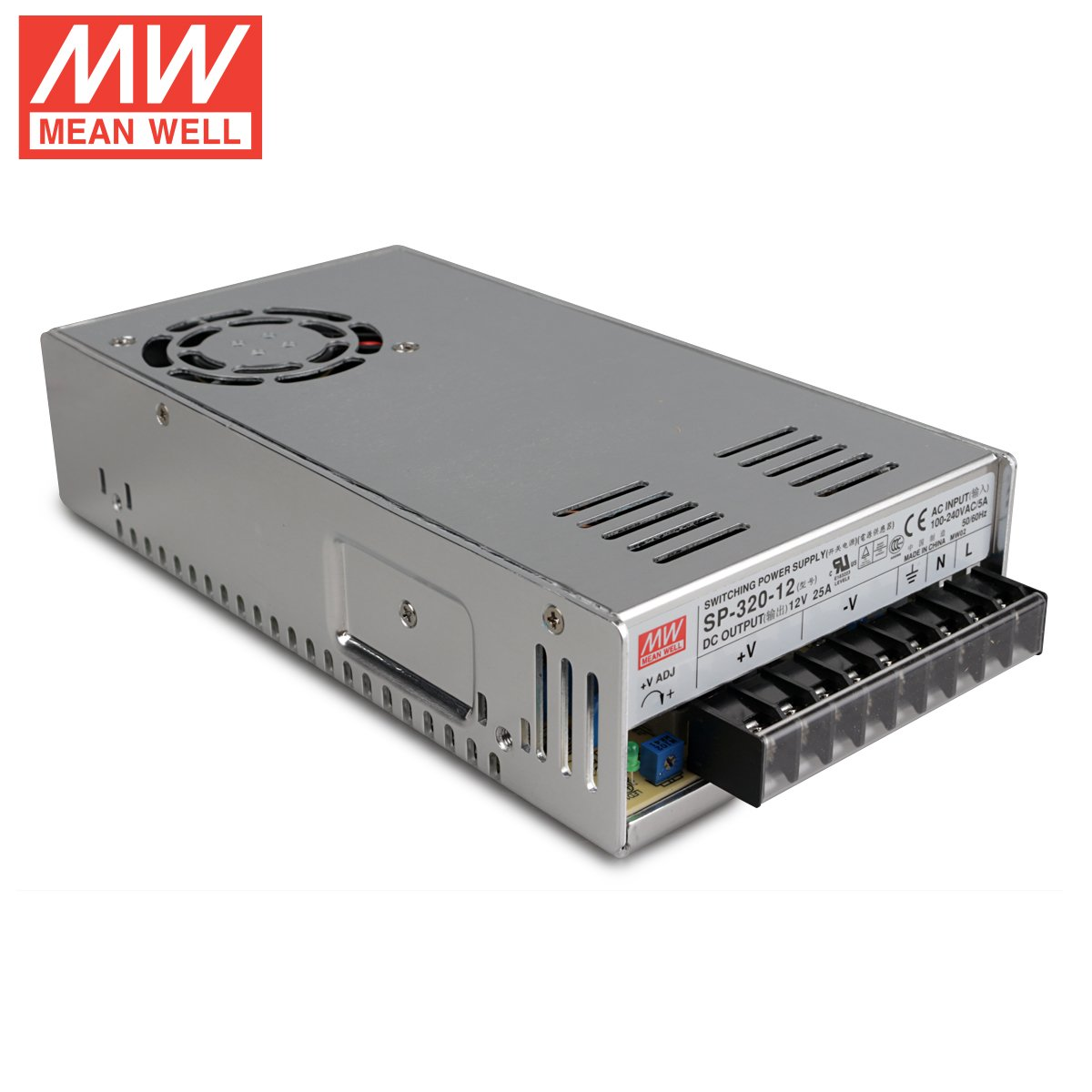 MeanWell SP-320-12 AC//DC Power Supply Single Output 12 Volt 25 Amp 300 Watt New