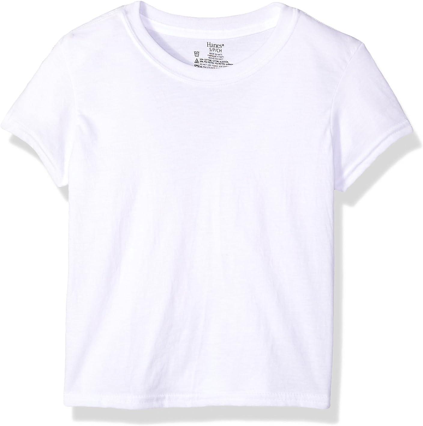 Hanes Boys Big Ultimate Cool Comfort Crewneck Undershirt 5-Pack