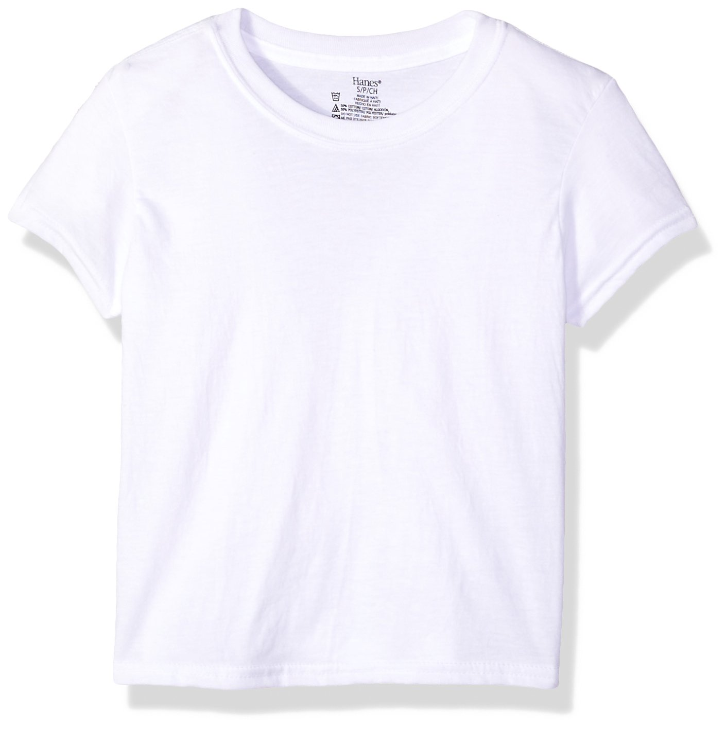 Hanes Big Boys' Ultimate Cool Comfort Crewneck Undershirt 5-Pack, White, Extra Large
