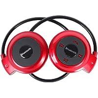Mini Fone de Ouvido HeadSet Estéreo Bluetooth Vermelho 503