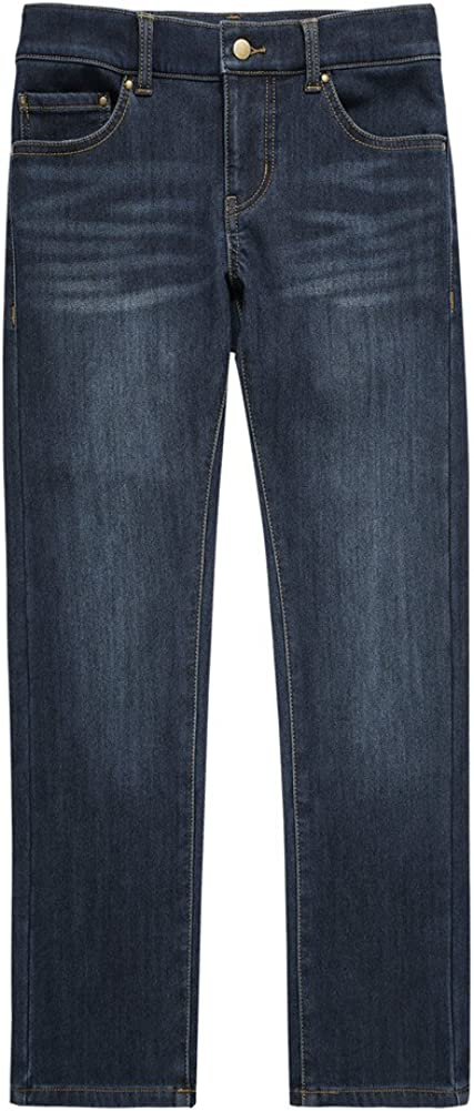 UNACOO Boys Lined Jeans with Regular Fit Stretch Straight Leg and 5 Pockets