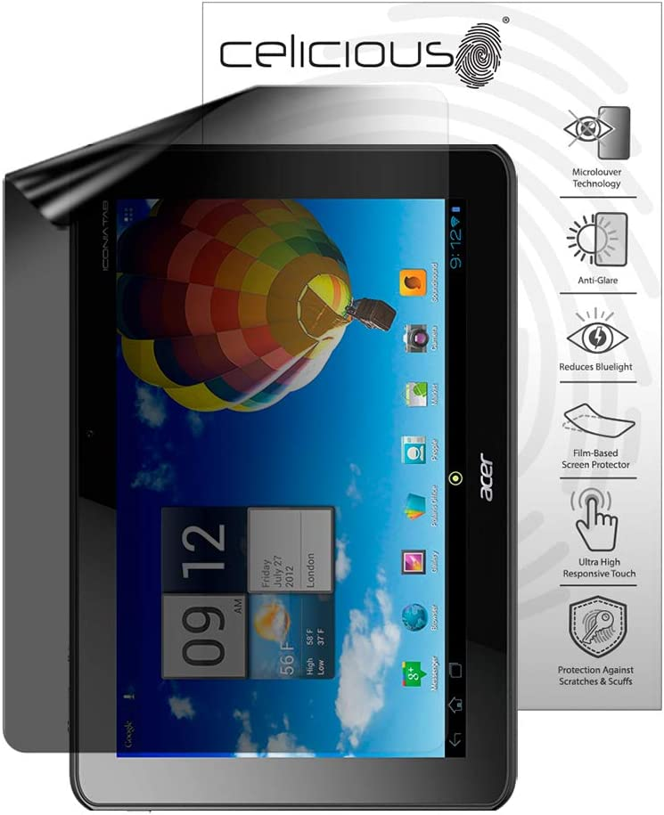 Celicious Privacy Lite (Portrait) 2-Way Anti-Glare Anti-Spy Filter Screen Protector Film Compatible with Acer Iconia Tab A511