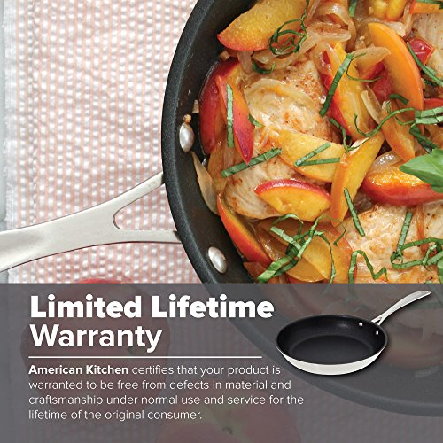 Nonstick Frying Pan - American Kitchen 10-Inch Premium Nonstick Frying Pan - PFOA-Free Nonstick Surface -Tri-Ply Construction - Stay-Cool Riveted Handle
