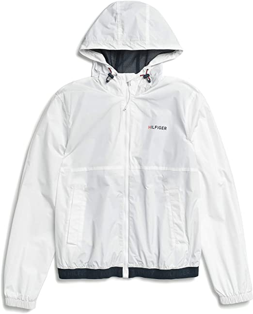 Tommy Hilfiger Men's Adaptive Rain Jacket with Magnetic Zipper