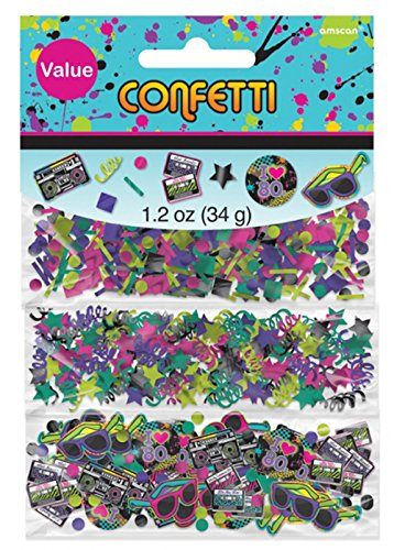 1980s Party Assorted Table Confetti (80s Table Decorations)
