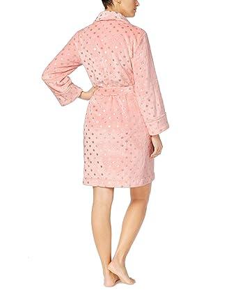 6dbecb4629 Charter Club Super Soft Plush Wrap Robe (Pink Foil Dot) at Amazon ...