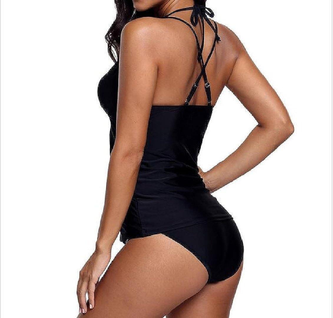 Kankanluck Women Bikini Underwire Swimwear Cross Bathing Suits