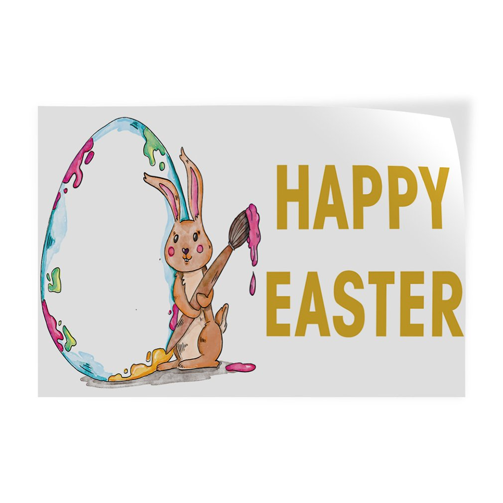 52inx34in Decal Sticker Multiple Sizes Happy Easter #1 Holidays and Occasions Happy Easter Outdoor Store Sign Green Set of 2