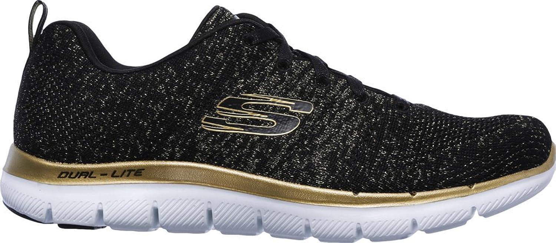 Skechers Flex Appeal 2.0 12771-Bkgd, Zapatillas para Mujer, Multicolor (Black 001), 39 EU