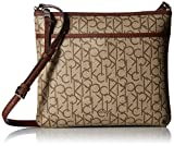 Calvin Klein Hudson Signature Crossbody Flat Pack, Natural
