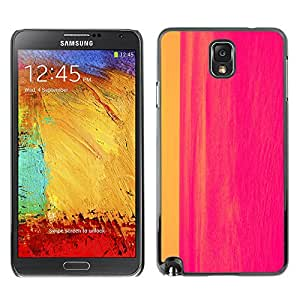 Planetar® ( Painting Abstract Hot Pink Line Watercolor ) SAMSUNG Galaxy Note 3 III / N9000 / N9005 Fundas Cover Cubre Hard Case Cover
