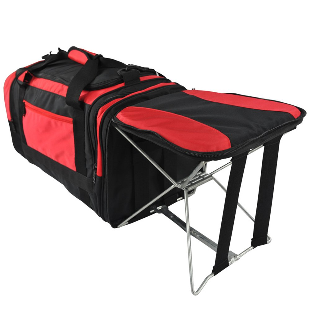 MIMI KING Fishing Chair Luggage Bag With Folding Chair Large Capacity Short Travel Bag Men And Women Portable Hand Bag 552728Cm,Red