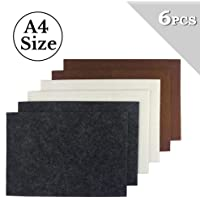 BIGTEDDY - 6pcs A4 Size Premium Furniture Pads Felt Sheets Vinyl Laminate Flooring Hardwood Floor Chairs Recliner Leg Protector DIY Furniture Pads 3 colors (8.27 x11.69)