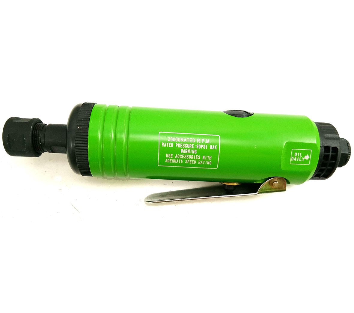 Dynamic Power Professional Mini Light weight (12.7oz) 1/4 IN. Air Straight Die Grinder with two wrenches, Complete with 1/4'' or 6mm collet (Green & Black)
