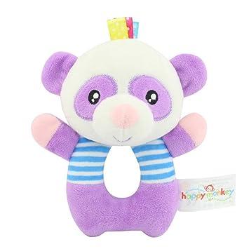 TOYMYTOY Bebé recién nacido suaves rattle Juguetes de traqueteo Juguetes de felpa para niños (Panda)