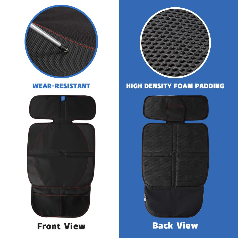 Funbliss car seat Cover for Baby Child Car Seat Protector with Thickest Padding,Auto Seat Cover Mat for Under Carseat Grey