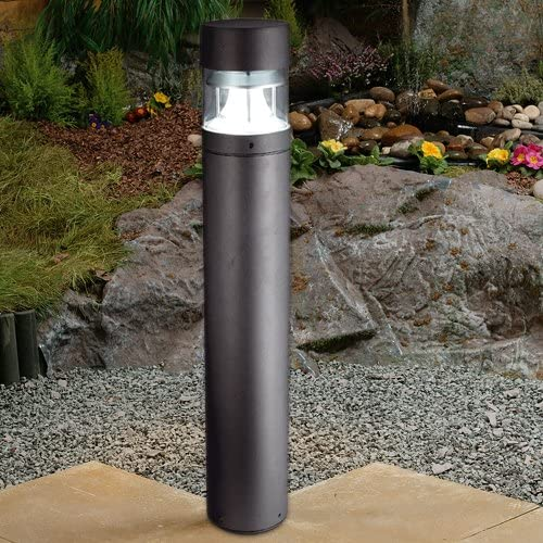 Zone Modern Robust IP65 Rated Outdoor Weatherproof Garden Driveway Black Die Cast Aluminium LED Post Bollard Light 980mm