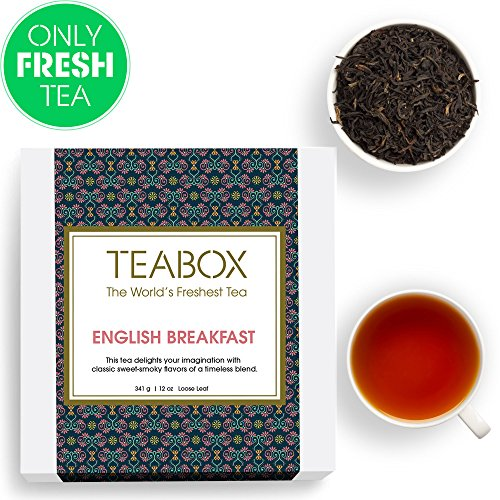 Teabox English Breakfast Loose Leaf Tea, 12 Oz (200+ Cups)