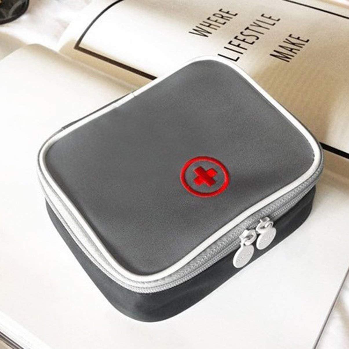 Triamisui Mini Bolsa de botiqu/ín de primeros auxilios para viaje al aire libre Paquete de medicina port/átil Bolsas de botiqu/ín de emergencia Bolsa de almacenamiento de pastillas Peque/ño organizador