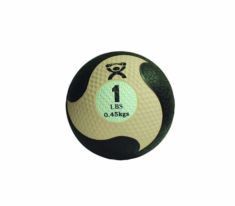 CanDo Rubber Medicine Ball, Tan