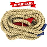 EASYGO 50 Foot TUG of WAR Rope with Flag – Kids and Adults Family Game – Team Building – Soft Rope - Professional Long Lasting - Extra Thick for Easier Gripping