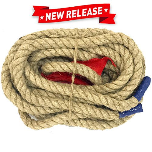 EasyGoProducts 33 Foot Tug of War Rope with Flag – Kids and Adults Family Game Team Building – ()