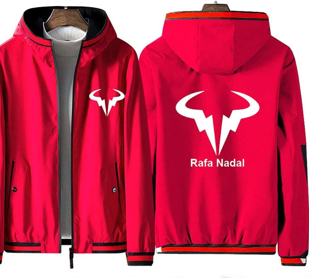 73HA73 Sweat Zipp/é /à Capuche pour Hommes Tennis Grand Slam Rafael Nadal Jacket ATP No.1 /À Manches Longues Confortable Sweat Unisexe Veste No Shirt