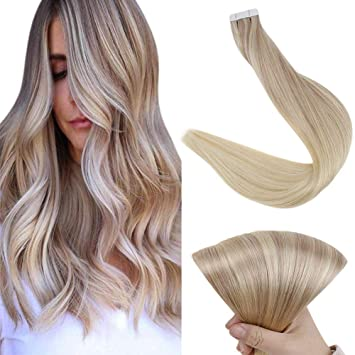 remy human hair extensions tape in