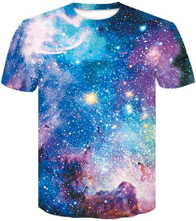 CHNSTX Camiseta Más Nuevo Galaxy Space Camiseta Impresa Camiseta De Verano para Hombres Creativos De Las Nuevas Camisetas De Manga Corta 3D Ropa Femenina Psicodélica L 3: Amazon.es: Deportes y aire libre