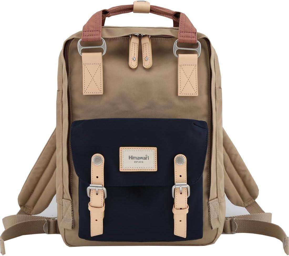 "Himawari School Functional Travel Waterproof Backpack Bag for Men & Women   14.9""x11.1""x5.9""   Holds 13-in Laptop (Black)"