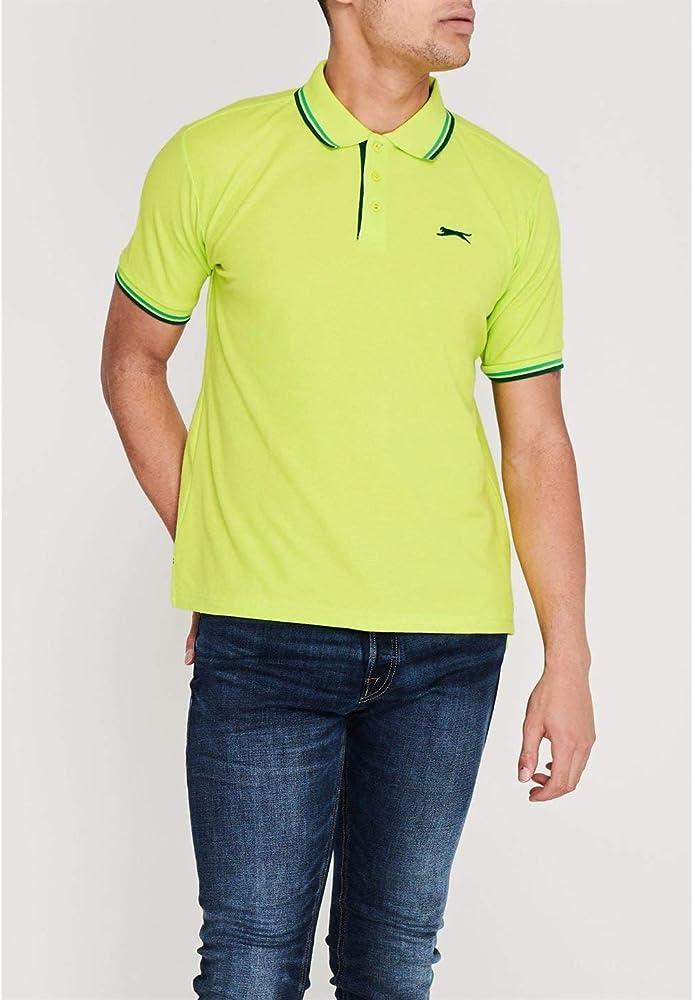 Slazenger Hombre Tipped Camiseta Polo Lima Verde XXL: Amazon.es ...