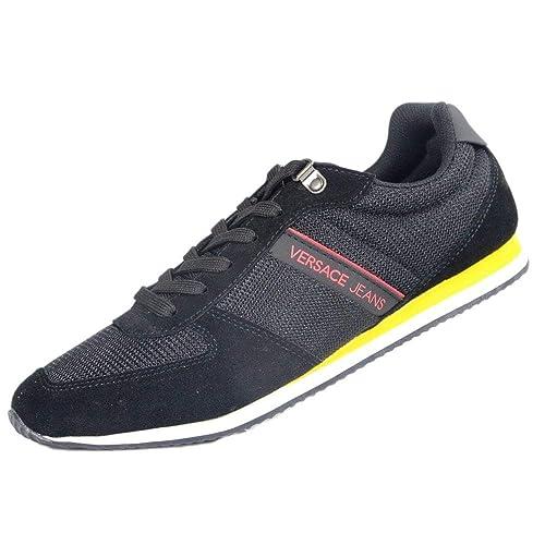 Versace - Zapatillas para Hombre Negro Negro, Color Negro, Talla 40 EU
