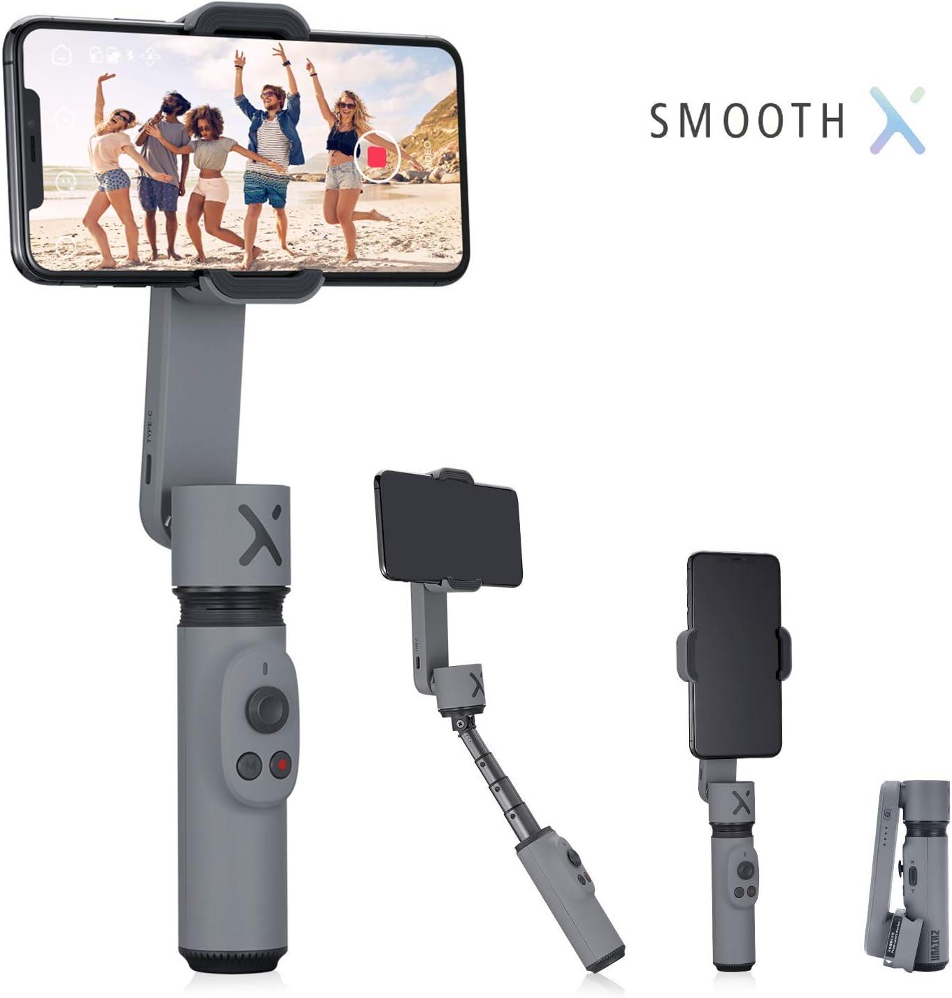 Zhiyun Smooth X 2 ejes estabilizador card/án para iPhone 11 Pro Xs Max Xr X 8 Plus 7 6 SE Smartphone Android Samsung Galaxy Note10 S10