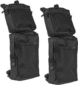 Everrich Universal ATV Fender Bags 2-Pack ATV Tank Saddle Bags waterproof-Cargo Storage Pack Hunting Bags (Black)