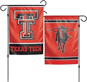 WinCraft NCAA Texas Tech Red Raiders 12 x 18 inch 2-Sided Garden Flag