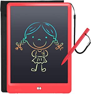 LCD Writing Tablet with Sleeve Case, LFragrant 10 Inch Electronic Graphics Drawing Pads, Drawing Board eWriter, Digital Handwriting Doodle Pad with Memory Lock for Kids Home School Office Pink Pink 10 Inch