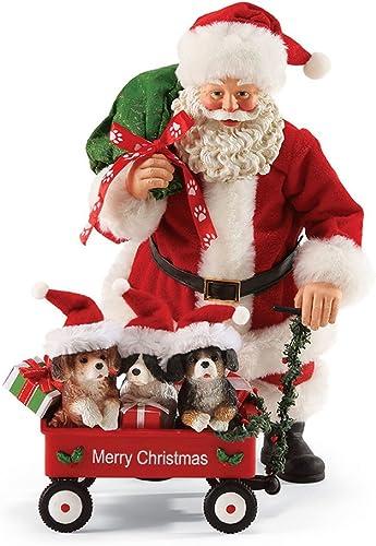 Department 56 Possible Dreams Santa Puppies in Wagon, 10 inch