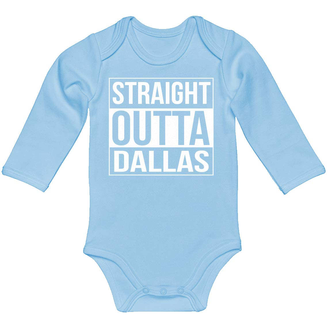 Indica Plateau Baby Romper Straight Outta Dallas 100/% Cotton Long Sleeve Infant Bodysuit