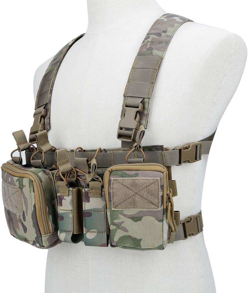 Details about  /TMC Tactical Quadruple Mag Pouch Insert For Tactical Vest SS Chest Rig Paintball